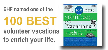 EHF named one of the 100 best volunteer vacations to enrich your life
