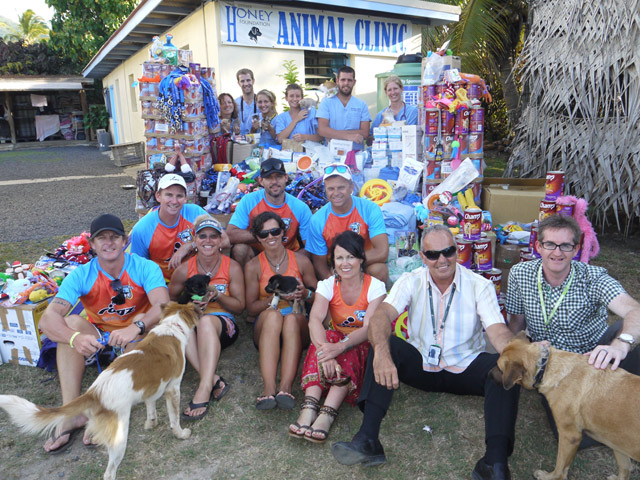 The Australian paddling crew, Rogz for Dogz, were on site last week to make the generous donation to The Esther Honey Foundation in their fifth consecutive year of doing it.