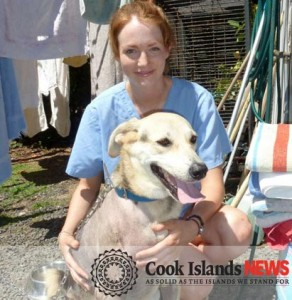 Vet nurse Lydia Champ, pictured with dog Candy, is one of four new volunteers at the Esther Honey Clinic.