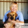 Vet Becci Darby with a blind dog called Victor, just one of thousands of animals to have been helped by the Esther Honey Foundation. 14072354